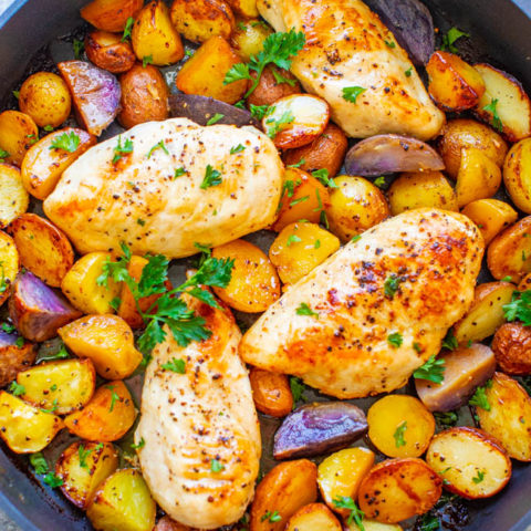 One Pan Lemon Butter Chicken and Potatoes