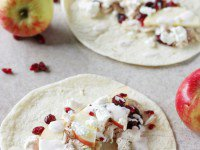 Leftover Turkey Tacos with Apples and Cranberries