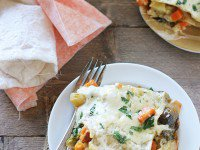 Root Vegetable and Brussels Sprouts Lasagna