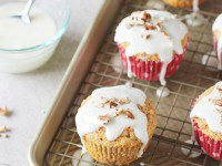 Carrot Cake Muffins with Mascarpone Glaze