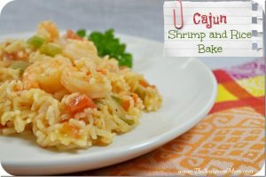 Cajun Shrimp and Rice Bake
